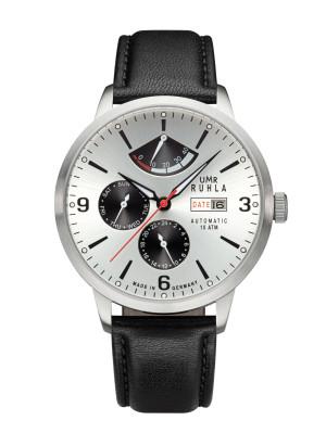 Uhren Manufaktur Ruhla - Automatik-Uhr mit Gangreserve - silber - made in Germany