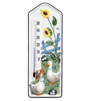 """Thermometer """"Gänse mit Hut"""""""