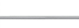 Collierkette Edelstahl, Schlange 42cm