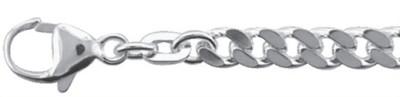 Collier Silber 925/-, Flachpanzer 50 cm