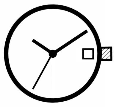 Watch movement quartz Ronda 705, hour H 1.27 SC, D3