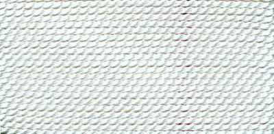 Perlseide Natur weiß Nr-3-0,50mm - 2m / 1 Nadel