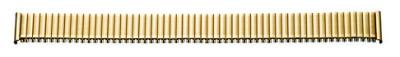 Flex-Metallband Edelstahl 10-12 mm, gold PVD, poliert / mattiert mit Wechselanstoß