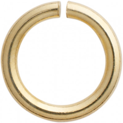 Jump ring round stainless steel/gilded Ø 5.00mm, thickness 0.90 mm