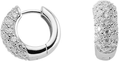 Creolen Silber 925/rh Ø 15,80 mm Zirkonia