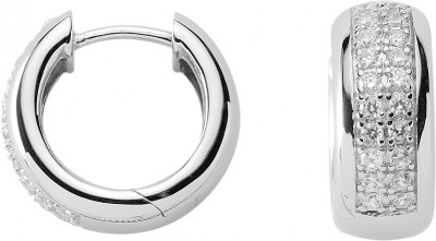 Creolen Silber 925/rh Ø 17,30 mm Zirkonia