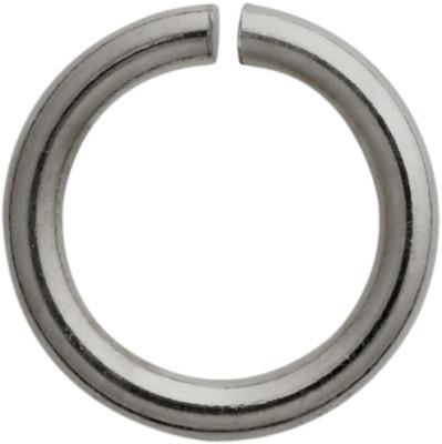 Anneaux de reliure rond acier inoxydable blanc, Ø 5,00mm, épaisseur 1,00 mm