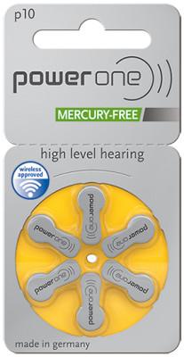 Power One 10 Hörgeräteknopfzelle