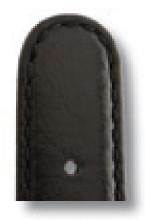 Bracelet-montre en cuir Phoenix 18mm noir lisse