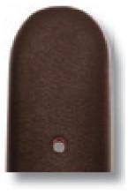 Bracelet-montre en cuir Merano 18mm moka lisse