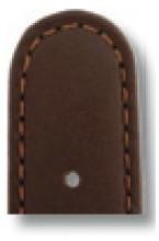 Lederband Louisville 18mm mokka glatt
