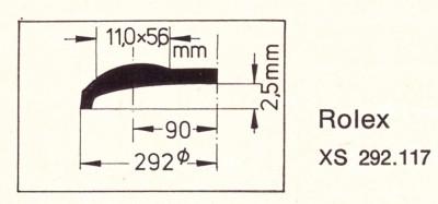 Glas XS 292.117 Stülpglas Kunststoff
