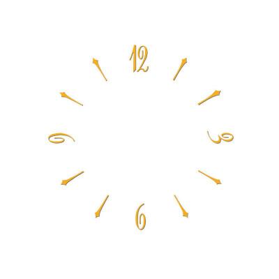 Assortiment des chiffres, chiffres arabes et lieus en laiton, jaune L=20mm
