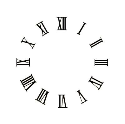 Assortiment des chiffres romains, laiton noir, L=20mm