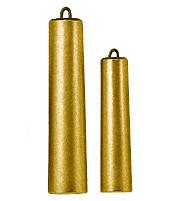 Gewicht für Schwarzwalduhren gelb unpoliert  750g