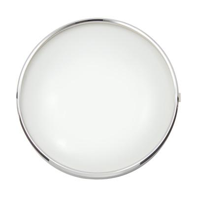 Scharnierglasdeckel mit Chromreif Ø 150