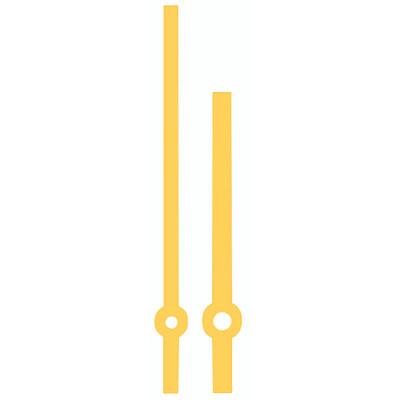 Zeigerpaar Funkuhren Balken gelbe Minutenzeiger-L:116mm