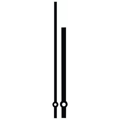 Zeigerpaar Funkuhren Balken schwarz Minutenzeiger-L:122mm