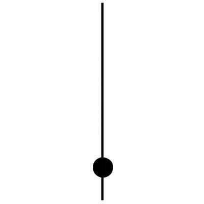 Sekundenzeiger Batterieuhrwerke Faden schwarz Zeiger-L:80mm