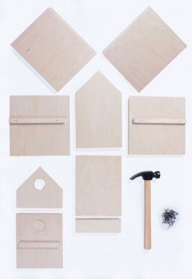 Wooden construction kit Birdhouse