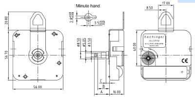 Quarzwerk Hechinger WX Langloch, ZWL 17,00mm