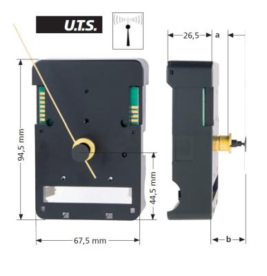 Funk-Uhrwerk FT UTS 700, ZWL 12mm