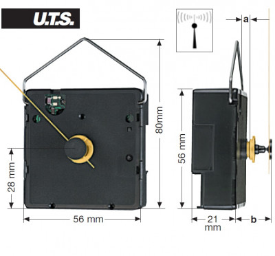 Funk-Uhrwerk FK UTS 700, ZWL 13,00mm