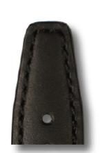 Leather strap Idaho 18 mm black