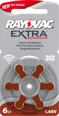 Rayovac 312 hearing aid button cell