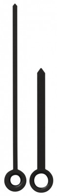 Pair of hands for radio controlled clock Euro Standard Bar black 62mm
