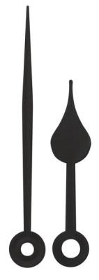 Zeigerpaar Funk Birne schwarz Minutenzeiger-L:65mm
