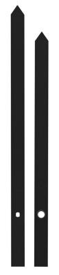 Zeigerpaar Euronorm Balken schwarz Minutenzeiger-L:160mm