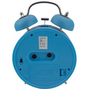 Kinder-Doppelglockenwecker Feuerwehr, blau