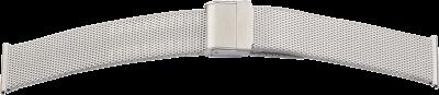 Milanaise-Metallband Edelstahl 22mm gleichlaufend Stahl satiniert