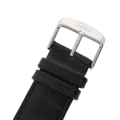 SELVA Montre-bracelet d'homme »Garcia« - argenté - noir