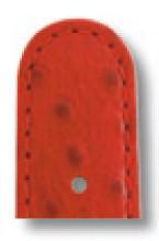 Bracelet-montre Dundee 12mm rouge avec grain d'autruche