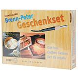 Geschenkset Brenn-Peter mit Holzrohlingen