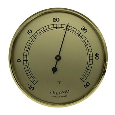 Thermometer Einbau-Wetterinstrument Ø 65mm, gold
