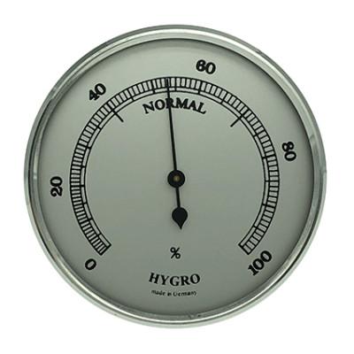 Hygromètre instrument météo pour monter Ø 65mm, argenté