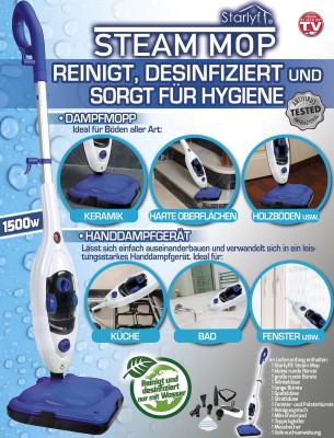 Dampfreiniger Steam Mop - reinigt und desinfiziert
