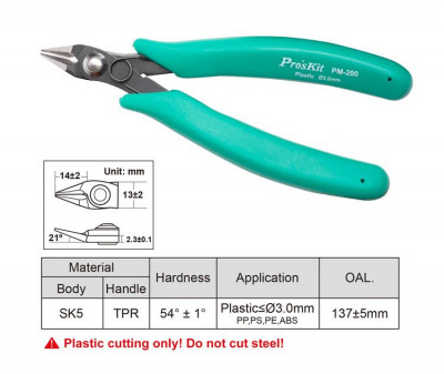 Plastic Modeler Side Cutter 137mm