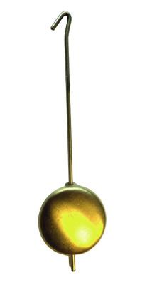 Mechanical oscillating pendulum, brass yellow matted; l: 32mm, Ø: 16mm