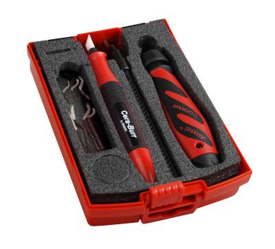 Entgrater-Set Premium, speziell für Kunststoffe, 11-teilig