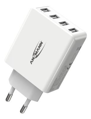 USB-Ladegerät High Speed mit 4 USB-Ports