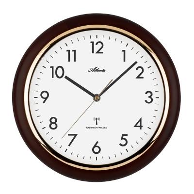 Atlanta 4536/20 Radio-controlled wall clock walnut