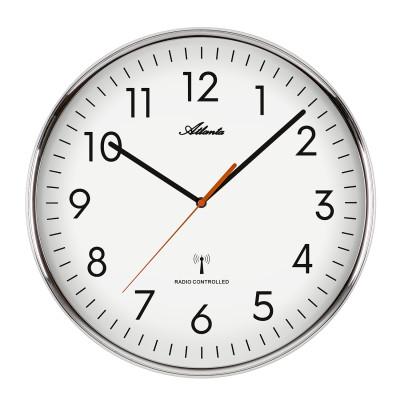 Atlanta 44990 Radio-controlled wall clock silver