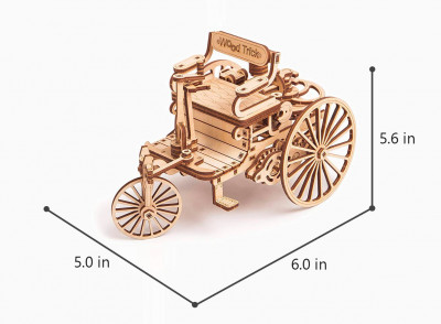 WOOD TRICK motorized carriage, 152 components
