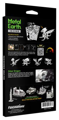 METAL EARTH 3D-Bausatz Silber-Drache