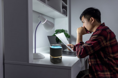 Mosquito repellent lamp with UV light