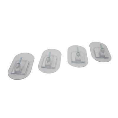Magic hooks - economy set of 4 - transparent - waterproof, resilient, reusable